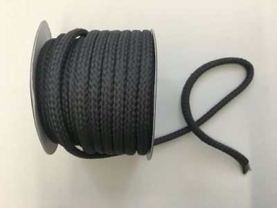 8mm Braided Cord Grey