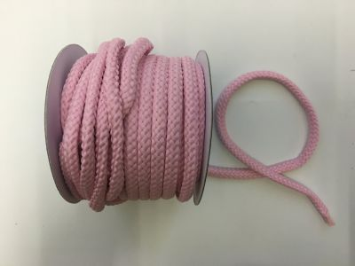 8mm Braided Cord Baby Pink