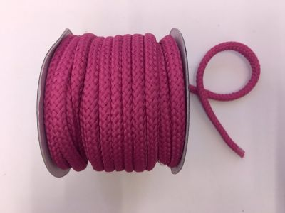 8mm Braided Cord Cerise