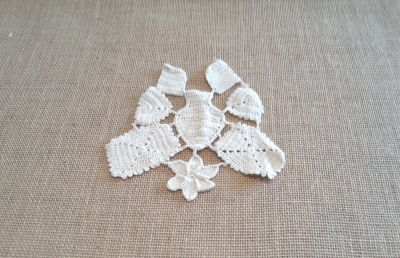 Butterfly Crochet Applique Cappuccino