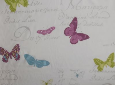 Stof Butterfly Voile White