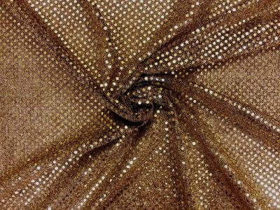 3mm Round Sequinned Net Gold Black C1778