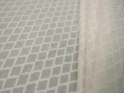 Diamond Patterned Cotton Voile White C256