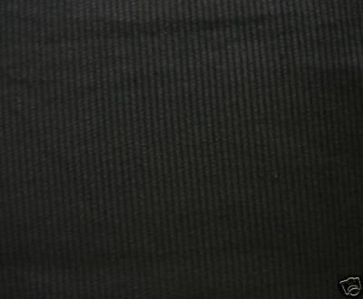 Black Corduroy Fabric