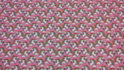 Rainbow Unicorns Pink Multi C335