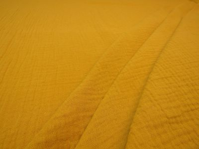 Muslin Double Cloth Crinkle Gold C337