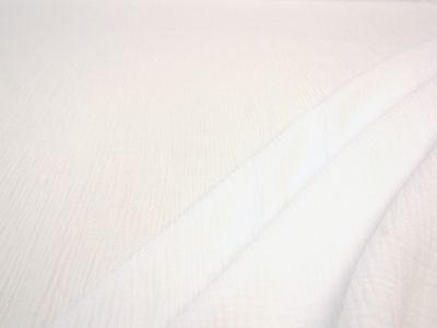 Muslin Double Cloth Crinkle White C338