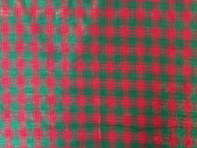 Sweden Glitter Check Red Green C349