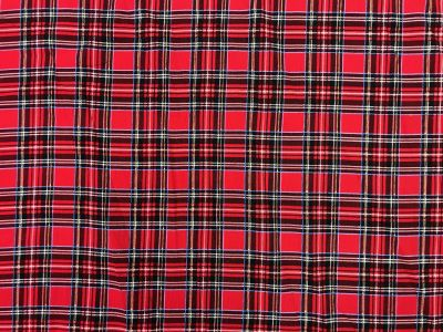 Tartan Needlecord Red I143