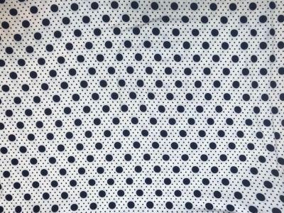 Soft Touch Dot Jersey Navy Ivory C384