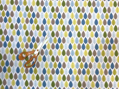 Leaves Cotton Poplin Multi C405