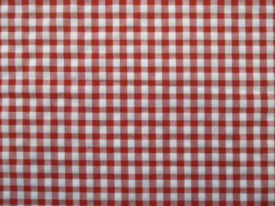 Cotton Gingham Check Red