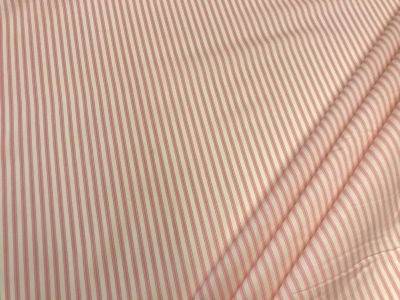 Cotton Poplin Ticking Stripe Pink C450