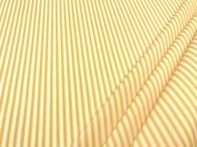 Cotton Poplin Ticking Stripe Yellow C452