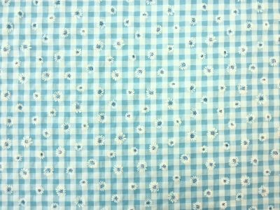Daisy Gingham Turquoise