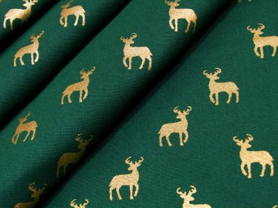 Gold Reindeer Green C485
