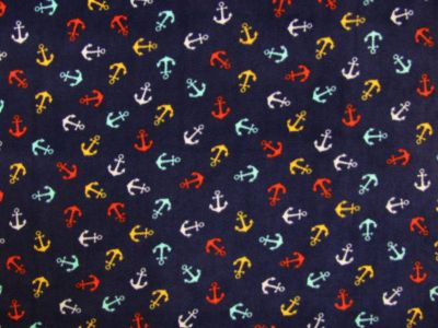 Anchor Fleece Navy Multi C498