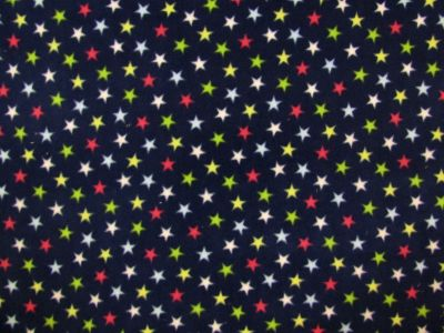 Stars Fleece Navy Multi C499