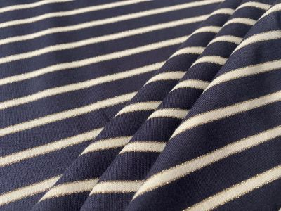 Sparkle Stripe Jersey Midnight C508