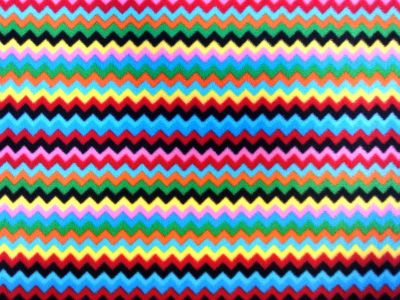 Zig Zag Multi Polar Fleece Fabric Col 2 C6788