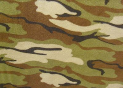 Desert Green Camouflage Polar Fleece Fabric