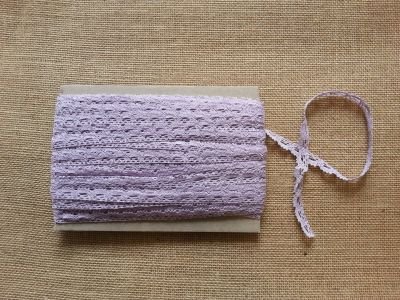 Cotton Scalloped Edge Trim Lilac