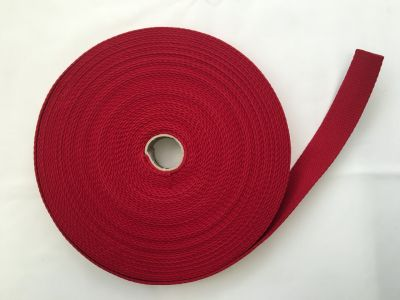 Cotton Webbing Red 008
