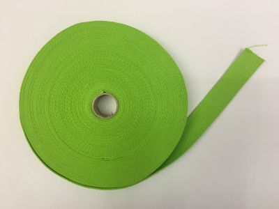 Cotton Webbing Lime Green 016