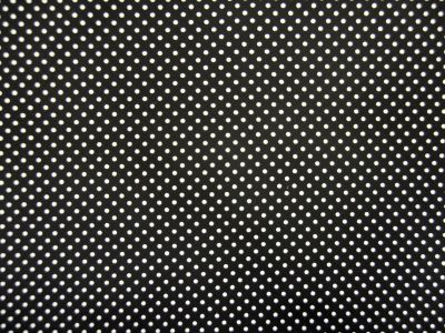 Spotty Cotton Poplin Black CP0009