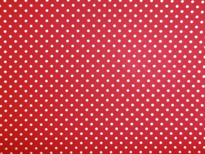 Spotty Cotton Poplin Bright Red CP0009