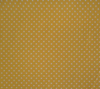 Spotty Cotton Poplin Yellow CP0009
