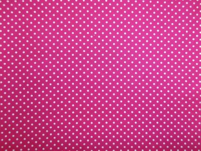 Spotty Cotton Poplin Cerise CP0009