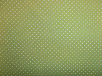 Spotty Cotton Poplin Lime CP0009