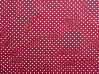 Spotty Cotton Poplin Wine CP0009