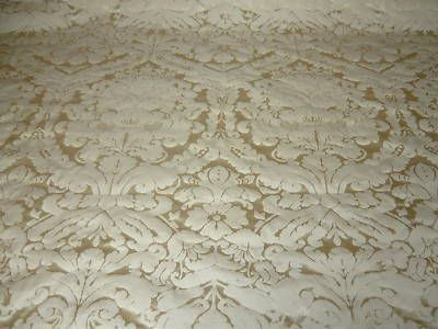 Faux Silk Damask Cream