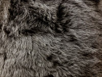 Dark Grey Short Hair Fur W160