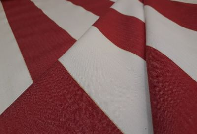 Decking Stripe Poppy Red Tex Ex 1896