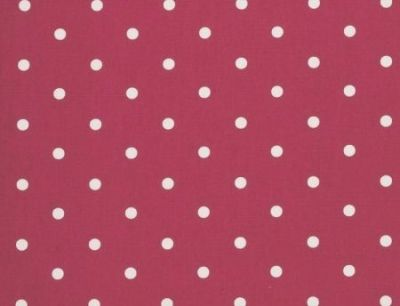 Clarke and Clarke Dotty Red Multi