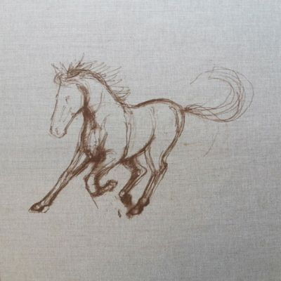Dream Horses Colt Cushion Panel 18