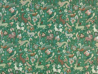 Fauna Tapestry Green E116