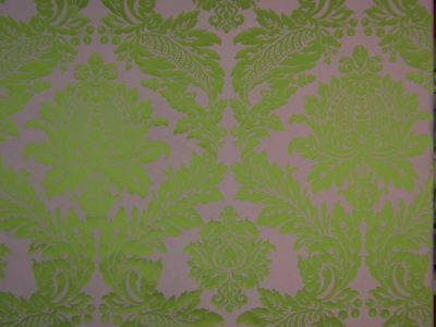 Palace Damask Lime Green E70