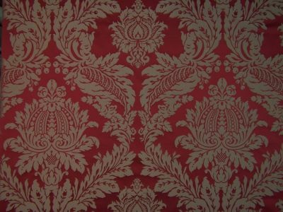 Palace Damask Burgundy Red E71