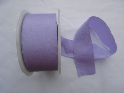 Faux Silk Ribbon Lilac
