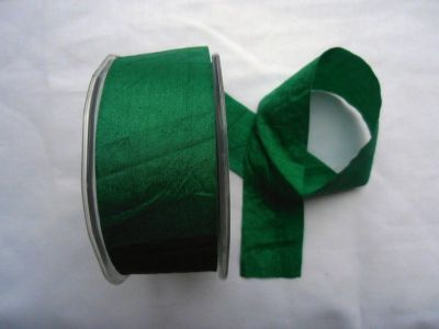 Faux Silk Ribbon Emerald