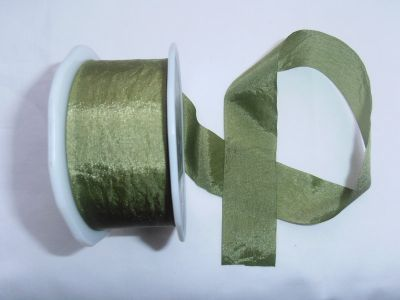 Faux Silk Ribbon Olive