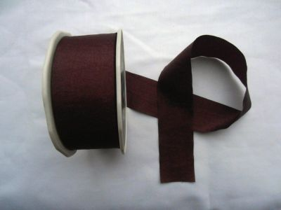 Faux Silk Ribbon Plum