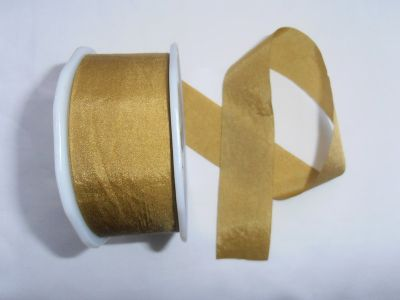 Faux Silk Ribbon Gold