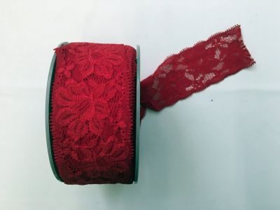Elastic Lace Red 008