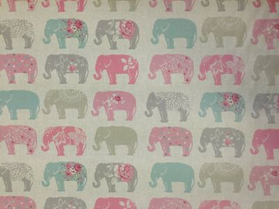 Studio G by Clarke and Clarke Elephants Pastel