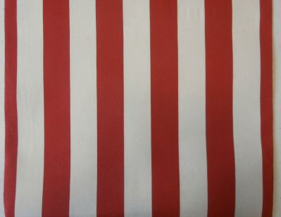 Deckchair Fabric Red and Cream Stripe